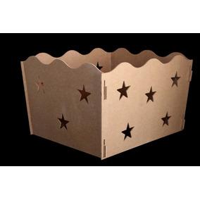 Caixa Presente Decoração Festa Aniversario Mdf Cru Estrela