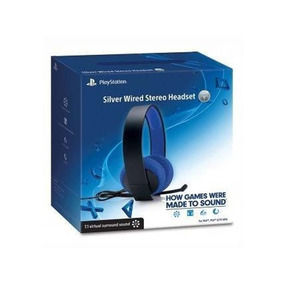 Headset Silver Wired Stereo 7.1 - Ps3 - Ps4 - Pc