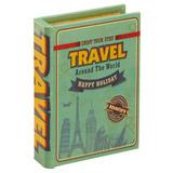 Caixa Decorativa De Madeira Mart Formato De Livro Travel