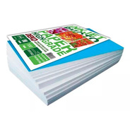 Papel Sublimatico A4 100 Folha Fundo Azul Para Jato De Tinta