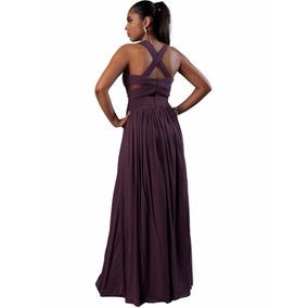 Vestido Fiesta Largo De Noche Zm0080a - Violeta