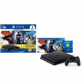 Ps4 Slim 500 Gb Hits 2 + 3 Juegos + 1 Joystick
