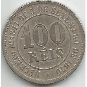 Egoto-v 012-moeda De 100 Réis 1882 Cupro-níquel Império