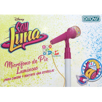 Micrófono Soy Luna Original Karaoke Volumen Luces Celu Mp3