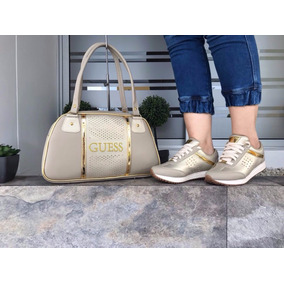 Zapatos + Bolso Para Mujer, Deportivos