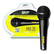 Microfono Skp Pro20 Dinamico Con Cable 5 Mts Nuevo Modelo
