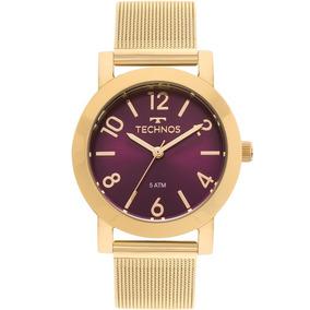 Relógio Technos Feminino Elegance Boutique Dourado Original