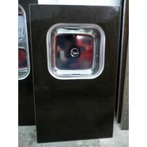 Mesada 1,02m Granitex C/ Reborde Aluminio Y Bacha Acero Inox