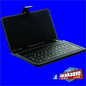 Capa Case Couro Tablet 7 Polegadas Teclado Usb Caneta Touch