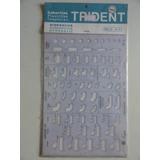 Gabarito Trident - Desenho Arquitetura - Hidraulica Mod H-1