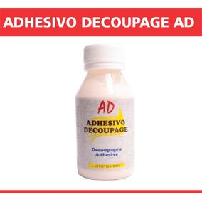 Adhesivo Decoupage Ad Para Laminas Tela Papel