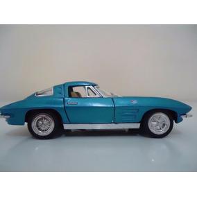 Linda Miniatura Em Metal Carro Antigo Corvette Stingray 1963
