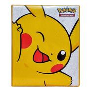 Pasta Tipo Fichário Pokémon + 10 Folhas Yes + 9 Cards