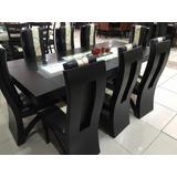 comedor moderno rectangular sillas