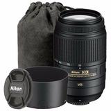 Lente Nikon 55-300 Vr F4-5.6 Nikkor Zoom Estuche Parasol Mdp