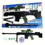 G150 Fusil Lanza Bolitas Con Laser Y Linterna Tipo Nerf