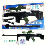 G150 Fusil Lanza Bolitas Laser Linterna Tipo Nerf Paintball