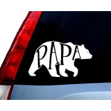 Papa Bear Decal Vinilo Etiqueta | Automóviles | Accesorio