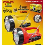 Linterna Led Opalux Con Radio