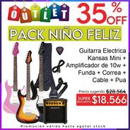 Combo Guitarra Electrica Niños + Amplificador Y Accesorios