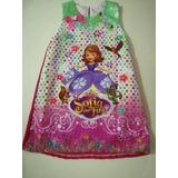 Vestido Princesa Sofia + Balaca Corona Plateada