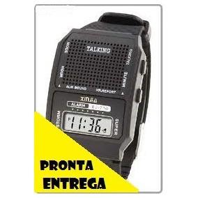 Relógio Fala Hora Portugues Deficiente Visual Idoso Criança