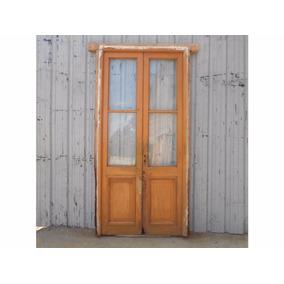 Puerta antigua madera interior aberturas puertas for Puertas interiores antiguas madera