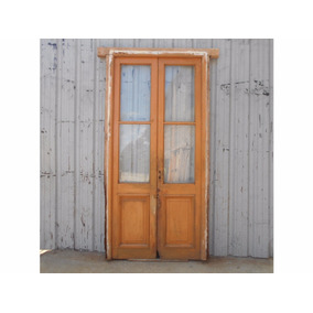 Puerta antigua madera interior aberturas puertas for Puertas antiguas de madera de 2 hojas