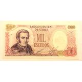 Chile Billete 1000 Escudos Cano Molina Serie A1