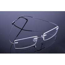 Armação Oculos Grau Feita De Titanium Preta Sem Aro - A525