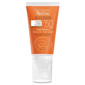 Avene Solar Spf50+ Mat Perfect Fluido Toque Seco Color 50ml