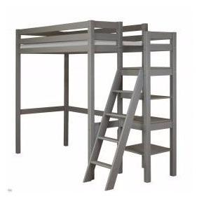cama alta loft de hierro con torreta descanso para m
