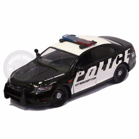 Miniatura Ford Police Interceptor Preto Motormax 1:24