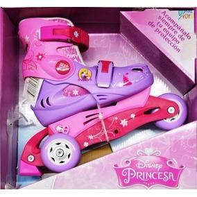 Patines Princesas Disney Ajustables T18-21 +envio Gratis