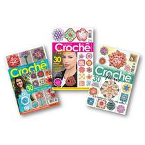 Lote De 3 Revistas - Crochê Flores - 90 Modelos - Artesanato