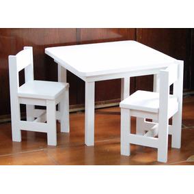 Mesas y sillas para ni os juguetes en mercado libre for Silla madera ninos