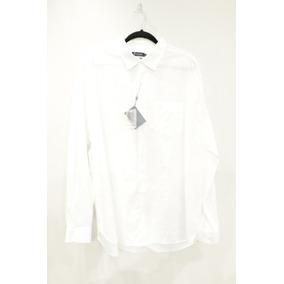 Camisa Individual Manga Longa Tricoline Fio Tinto Branca cfbdf845c4ff1