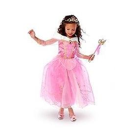 Vestido Fantasia Princesa Disney Bela Adormecida Aurora Tam4