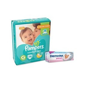 Kit Fraldas Pampers Confort Sec G - Mega + Creme Preventivo
