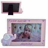 Porta Retrato Menino Ou Menina Recem Nascido 10x15cm
