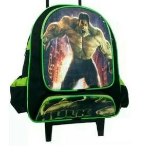 Mochila Escolar Infantil Menino Rodinhas Hulk- Vingadores