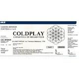 Ingresso Meia Coldplay - São Paulo Cad Inferior 07/nov/2017