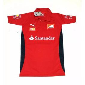 Camisa Polo Ferrari Santander F1 Scuderia Ups Top Top Gola V