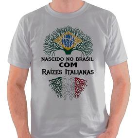 ab877fe0ed Camiseta Italiano Descendente Itália Camisa Blusa
