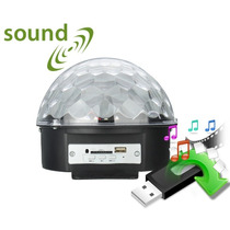 Luz Led Dj Disco Ball Bocina Mp3 Esfera Audio Rítmica