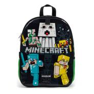 Mochila Escolar Juvenil Minecraft Preto Com Verde Original