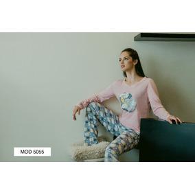 Pijama Mujer Juvenil Algodón Pantalón Manga Larga Borregos