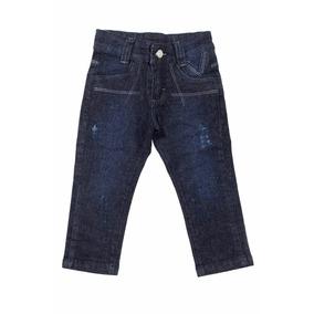 Calça Jeans Masculina Meninos Bebê Puídos Tamanhos 1 / 2 / 3