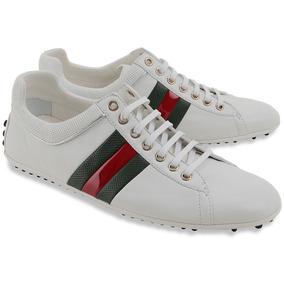 Exclusivas Zapatillas De Cuero Gucci (made In Italy) + Funda