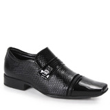 Sapato Social Conforto Masculino Jota Pé Flex Feet - Preto